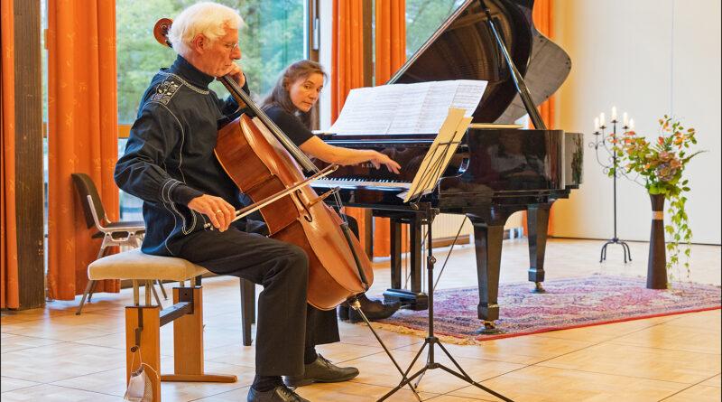 """13.11.2021 """"Romantische Kammermusik"""" mit Holger Best ( Cello ), Bettina Anderle ( Klavier )"""